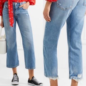 GRLFRND Linda Pop Crop High-Rise Jeans NWT